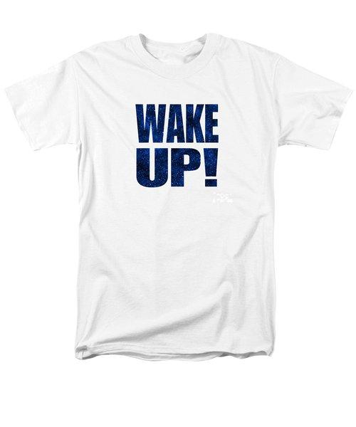 Wake Up White Background Men's T-Shirt  (Regular Fit) by Ginny Gaura