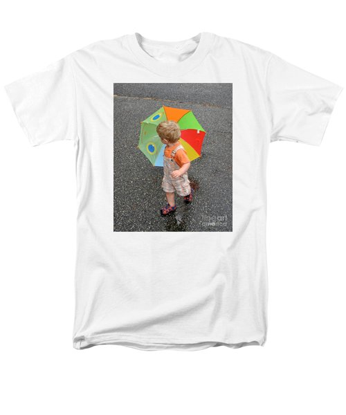 Men's T-Shirt  (Regular Fit) featuring the photograph Walking In The Rain by Sami Martin