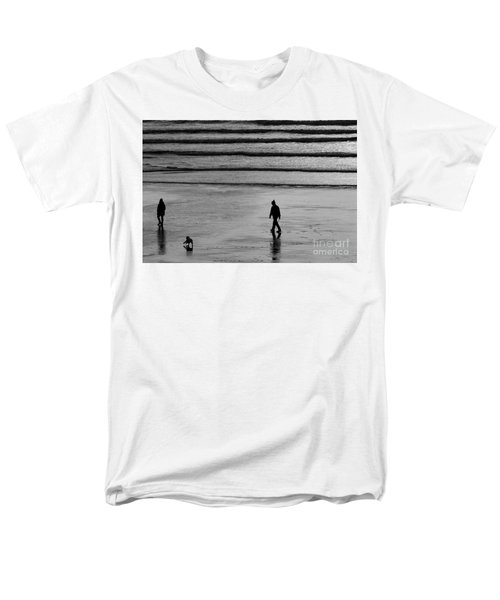 Men's T-Shirt  (Regular Fit) featuring the photograph Walking The Dog At Marazion by Brian Roscorla