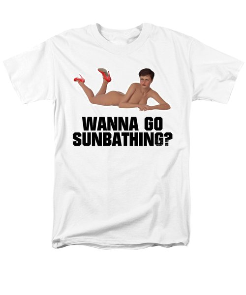 Wanna Go Sunbathing? Men's T-Shirt  (Regular Fit) by Esoterica Art Agency