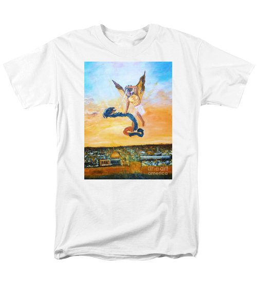 Men's T-Shirt  (Regular Fit) featuring the painting Warfare Rev 12 Vs7 by Donna Dixon
