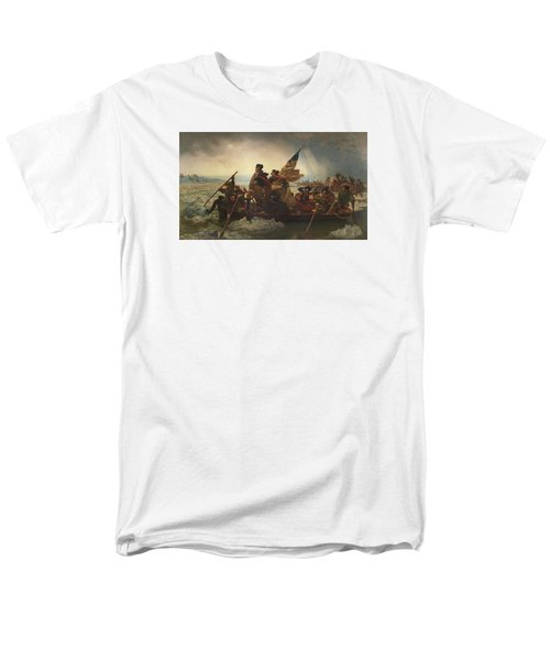 Washington Crossing The Delaware Men's T-Shirt  (Regular Fit) by War Is Hell Store