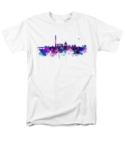 Washington Dc Skyline Men's T-Shirt  (Regular Fit) by Marian Voicu