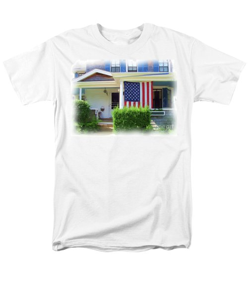 Watch Hill Ri Cottage Men's T-Shirt  (Regular Fit) by Joan Hartenstein