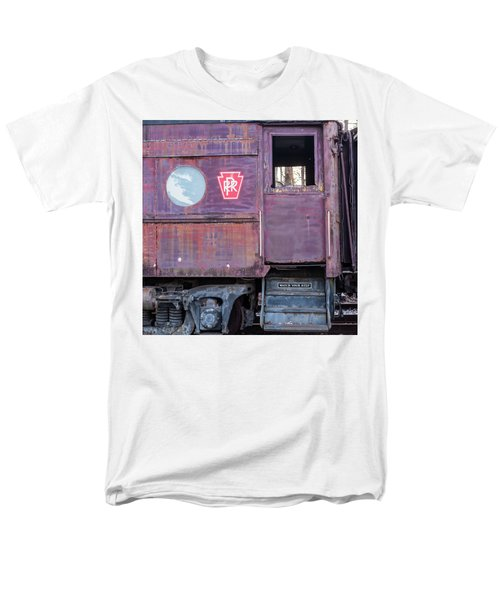 Watch Your Step Vintage Railroad Car Men's T-Shirt  (Regular Fit) by Terry DeLuco