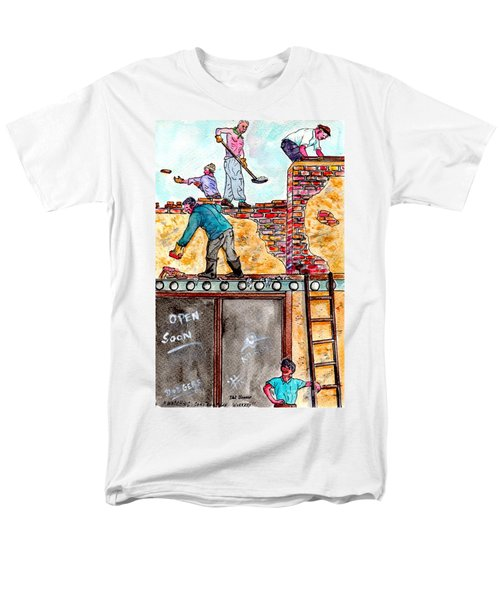 Watching Construction Workers Men's T-Shirt  (Regular Fit)