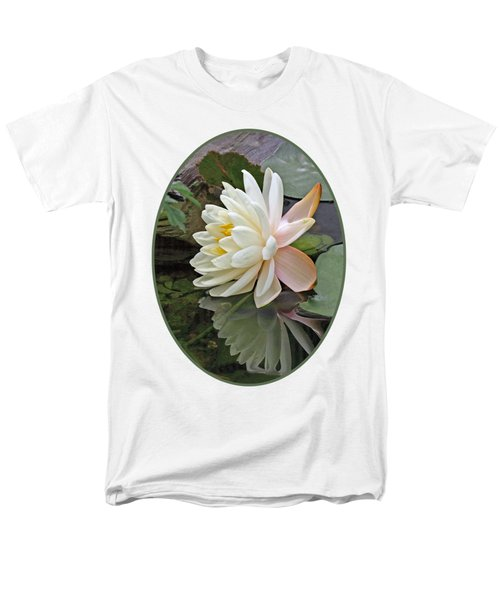 Water Lily Reflections Men's T-Shirt  (Regular Fit) by Gill Billington