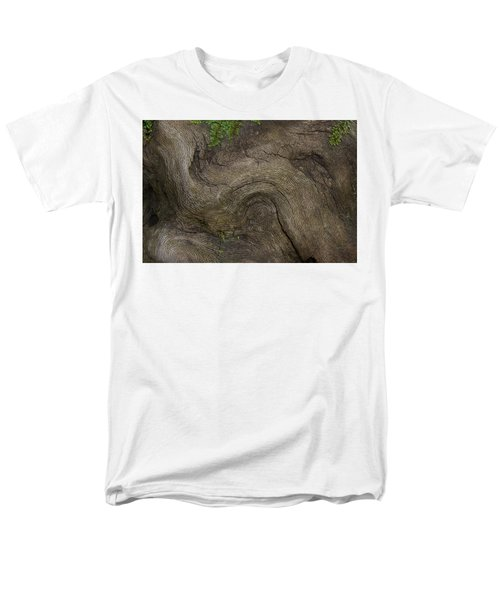 Men's T-Shirt  (Regular Fit) featuring the photograph Weathered Tree Root by Mike Eingle