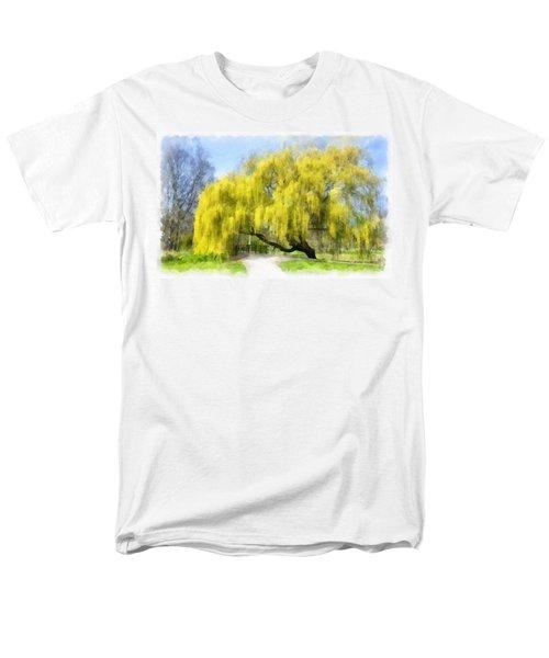 Weeping Willow Aquarell Men's T-Shirt  (Regular Fit) by Maciek Froncisz