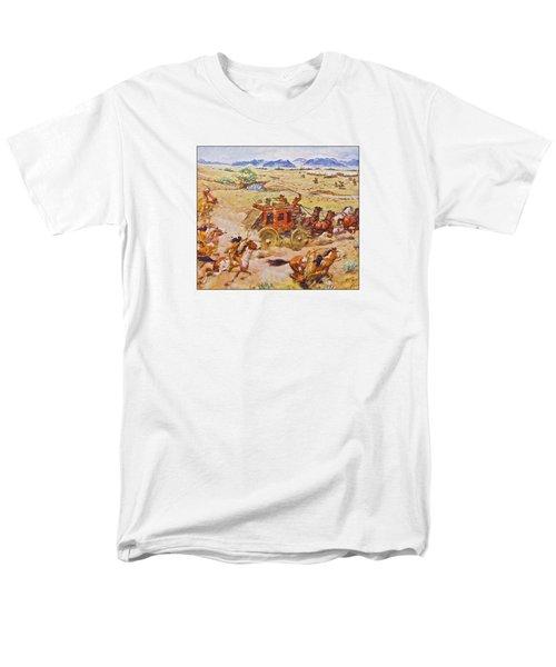 Wells Fargo Express Old Western Men's T-Shirt  (Regular Fit) by Susan Leggett