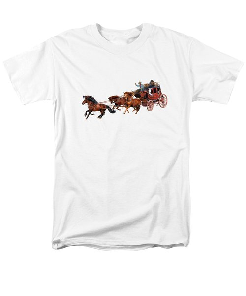 Wells Fargo Stagecoach Men's T-Shirt  (Regular Fit) by Glenn Holbrook