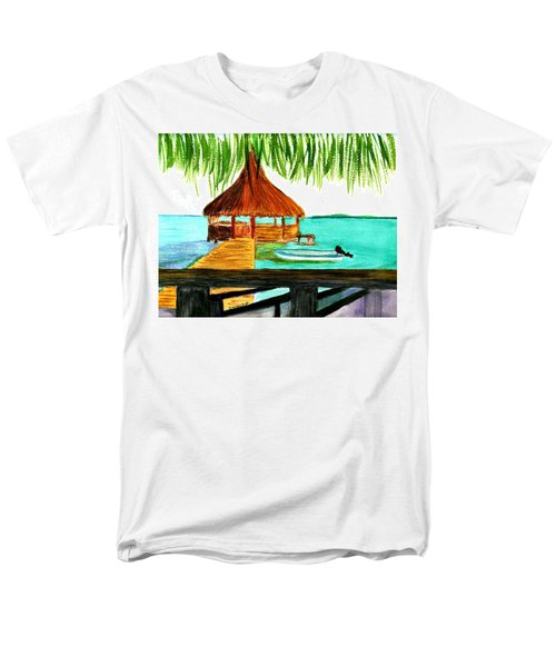 West End Roatan Men's T-Shirt  (Regular Fit) by Donna Walsh