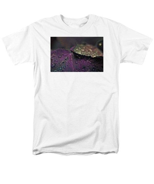 Wet Purple Leaves Men's T-Shirt  (Regular Fit) by Bonnie Bruno