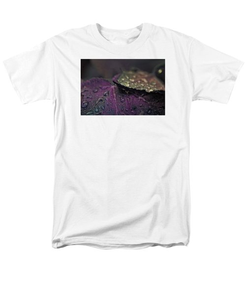 Wet Purple Leaves Men's T-Shirt  (Regular Fit)