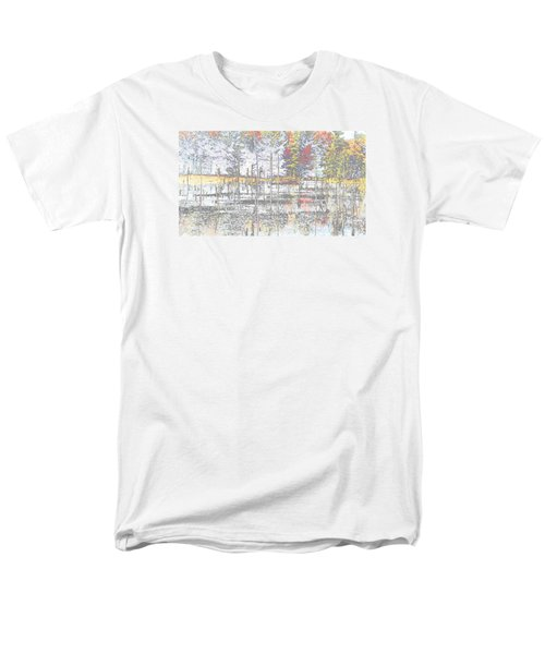 Wetland Reflections Abstract Men's T-Shirt  (Regular Fit)