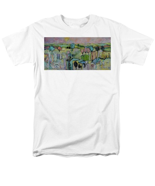 What A Bird Sees Men's T-Shirt  (Regular Fit) by Sharon Furner