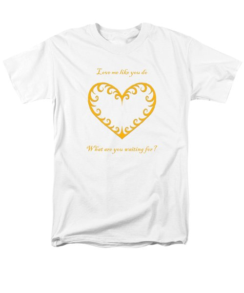What Are You Waiting For? Men's T-Shirt  (Regular Fit) by Terri Waters
