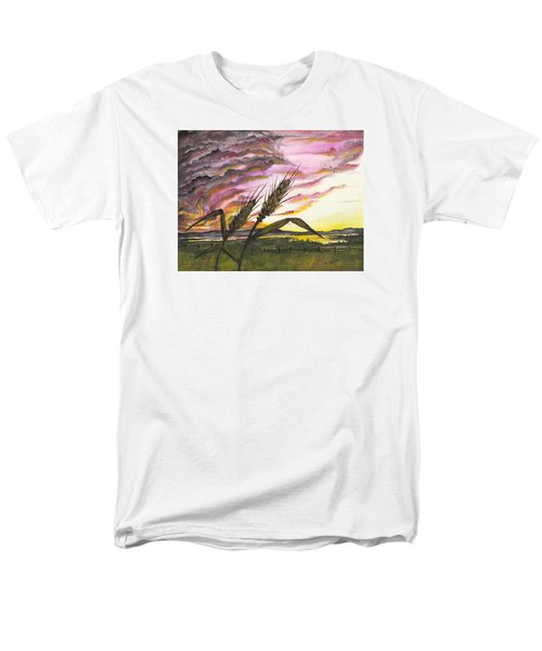 Men's T-Shirt  (Regular Fit) featuring the painting Wheat Field by Darren Cannell
