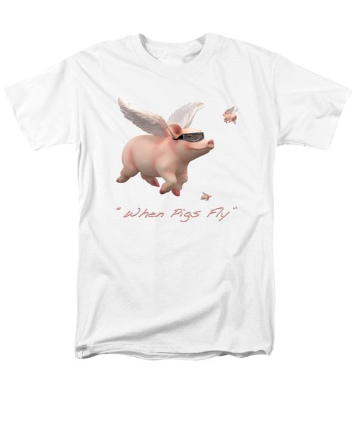 Men's T-Shirt  (Regular Fit) featuring the photograph When Pigs Fly by Mike McGlothlen