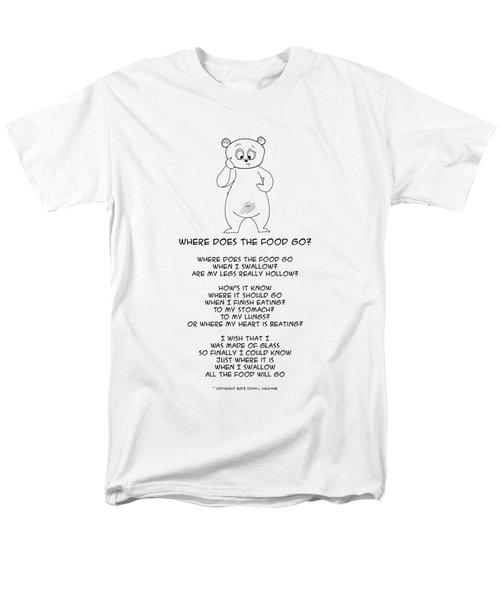 Where Does The Food Go Men's T-Shirt  (Regular Fit)