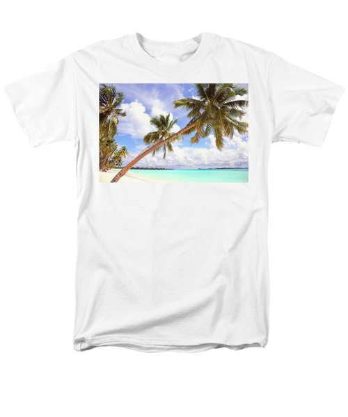Whispering Palms. Maldives Men's T-Shirt  (Regular Fit) by Jenny Rainbow