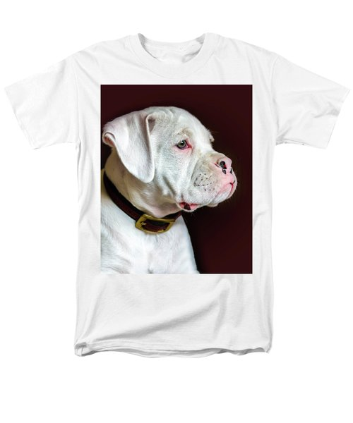 White Boxer Portrait Men's T-Shirt  (Regular Fit) by Dawn Romine
