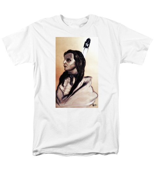 Men's T-Shirt  (Regular Fit) featuring the painting White Cloud.sicangu.1880 by Ayasha Loya