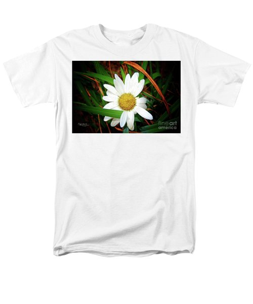 White Daisy Men's T-Shirt  (Regular Fit) by Inspirational Photo Creations Audrey Woods