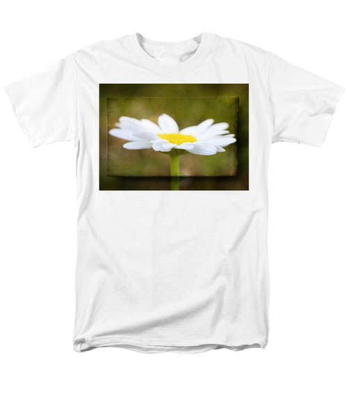 Men's T-Shirt  (Regular Fit) featuring the photograph White Daisy by Eduard Moldoveanu