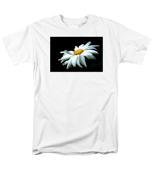 Men's T-Shirt  (Regular Fit) featuring the photograph White Daisy Flower In The Wind by Alexander Senin
