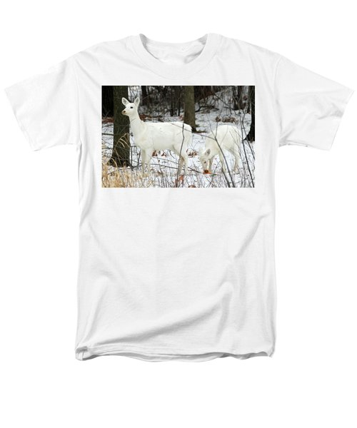 White Deer With Squash 4 Men's T-Shirt  (Regular Fit) by Brook Burling