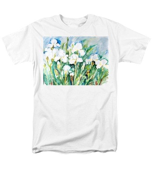 White Irises Men's T-Shirt  (Regular Fit) by Alexandra Maria Ethlyn Cheshire