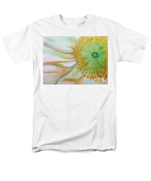 Men's T-Shirt  (Regular Fit) featuring the painting White Poppy by Sheron Petrie