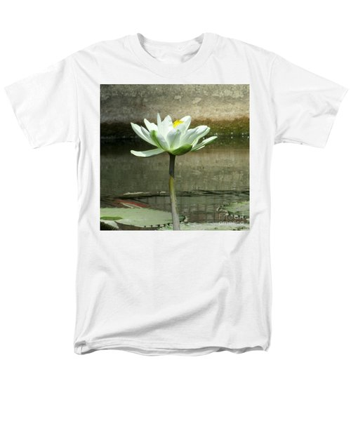 Men's T-Shirt  (Regular Fit) featuring the photograph White Water Lily 2 by Randall Weidner
