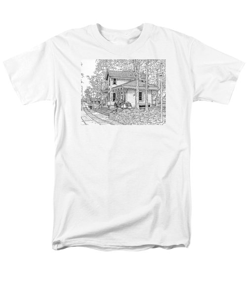 Whitehall Station Bryn Mawr Pennsylvania Men's T-Shirt  (Regular Fit) by Ira Shander