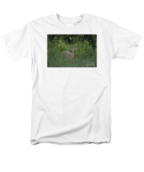 Men's T-Shirt  (Regular Fit) featuring the photograph Whitetail Fawn 20120711_37a by Tina Hopkins