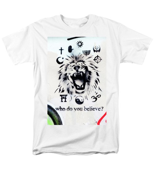 Men's T-Shirt  (Regular Fit) featuring the photograph Who Do You Believe by Art Block Collections