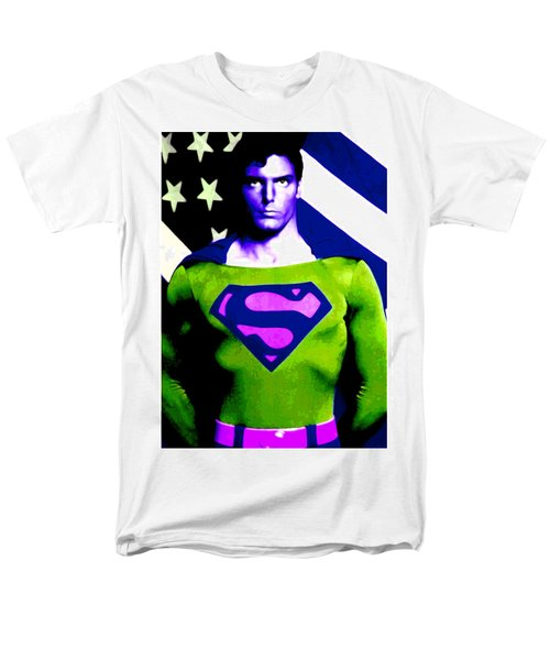 Who Is Superman Men's T-Shirt  (Regular Fit) by Saad Hasnain