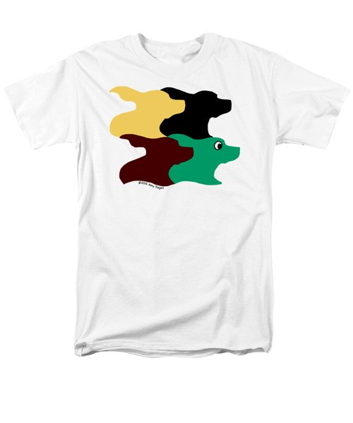 Wild And Crazy Tessellating Dogs Men's T-Shirt  (Regular Fit)