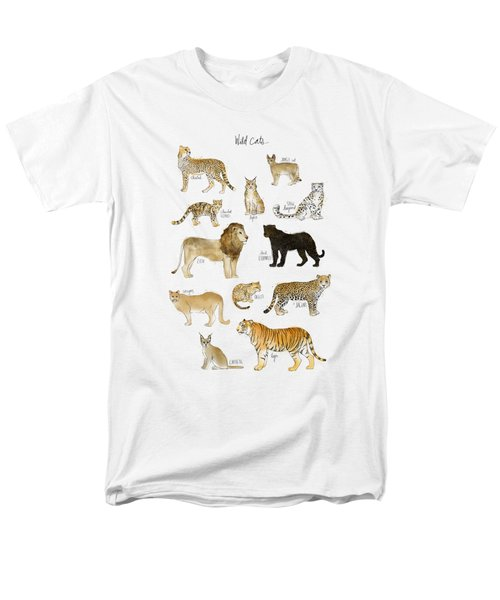 Wild Cats Men's T-Shirt  (Regular Fit) by Amy Hamilton