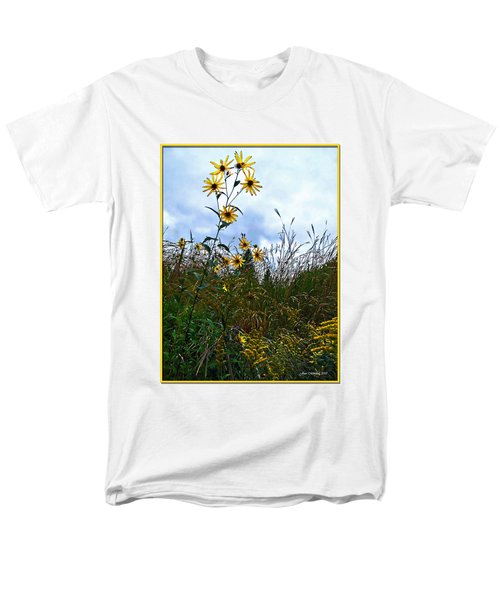 Men's T-Shirt  (Regular Fit) featuring the photograph Wildflowers And Mentor Marsh by Joan  Minchak