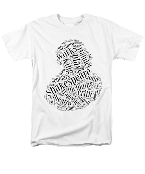 William Shakespeare Word Cloud Men's T-Shirt  (Regular Fit) by Philip Ralley