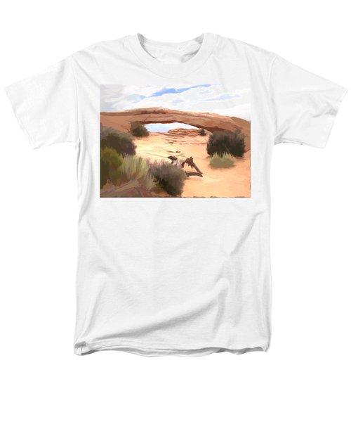 Men's T-Shirt  (Regular Fit) featuring the digital art Window On The Valley by Gary Baird