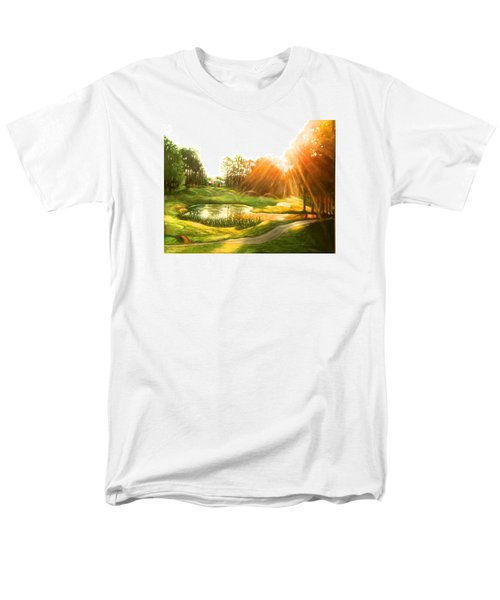 Windstone 13th Green Men's T-Shirt  (Regular Fit) by Janet McGrath