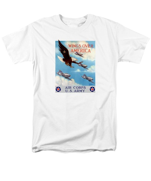 Wings Over America - Air Corps U.s. Army Men's T-Shirt  (Regular Fit) by War Is Hell Store