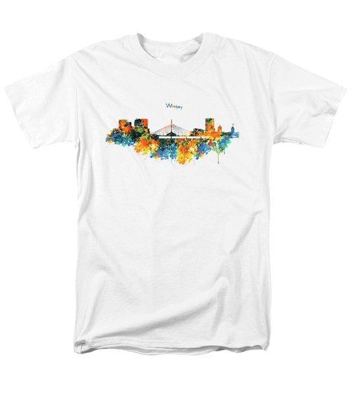 Winnipeg Skyline Men's T-Shirt  (Regular Fit) by Marian Voicu
