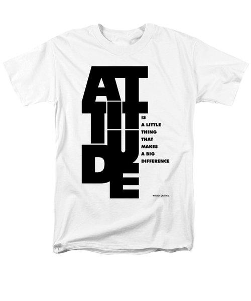 Winston Churchill Inspirational Typographic Quotes Poster Men's T-Shirt  (Regular Fit)