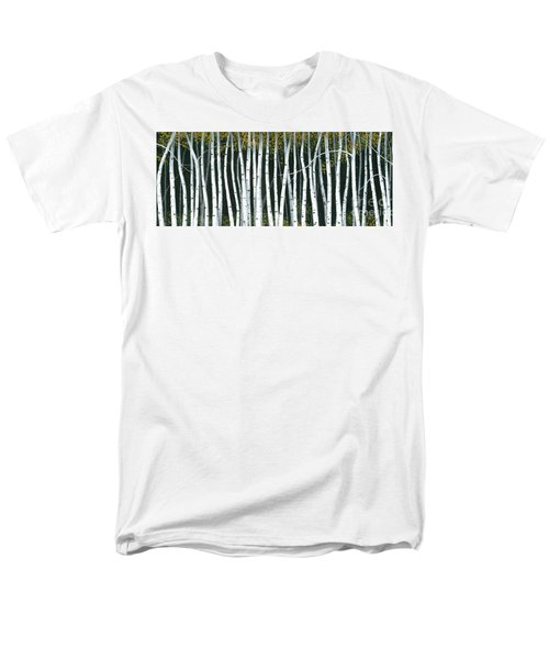 Men's T-Shirt  (Regular Fit) featuring the painting Winter Aspen 3 by Michael Swanson