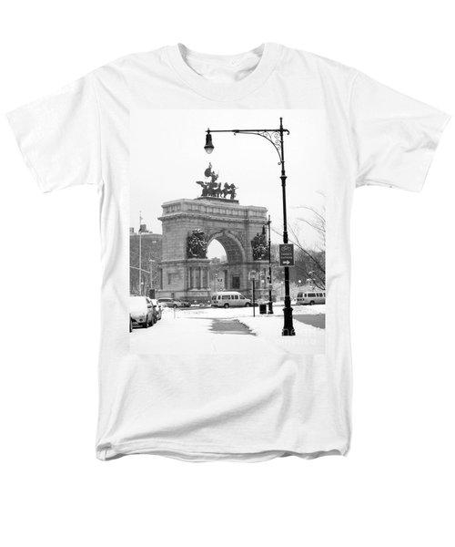 Winter Grand Army Plaza Men's T-Shirt  (Regular Fit) by Mark Gilman