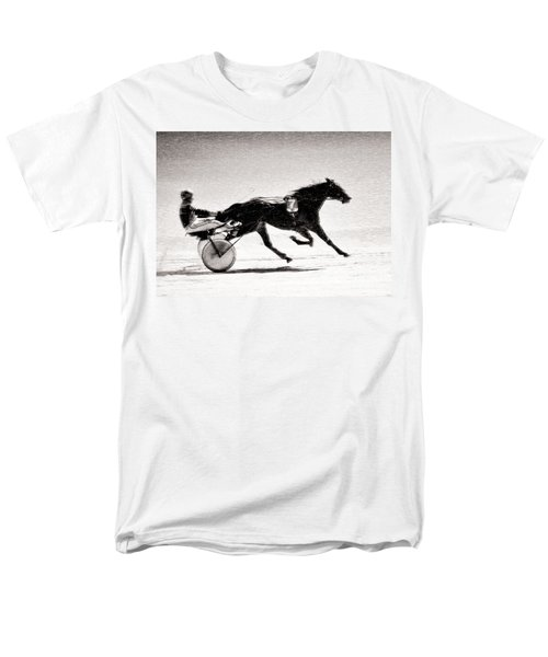 Winter Harness Racing Men's T-Shirt  (Regular Fit) by Ari Salmela